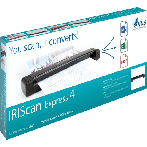 I.R.I.S. IRIScan Express 4 Sheetfed Scanner | 1200 dpi Optical