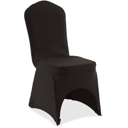 Iceberg Banquet Chair Cover - Supports Chair - Stretchable, Snug Fit, Washable - Polyester, Spandex - Black - 1