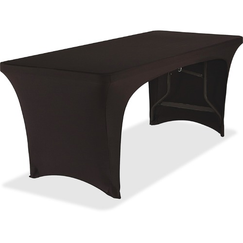 Iceberg Open Stretchable Table Cover - Fabricel - Black - 1 Each