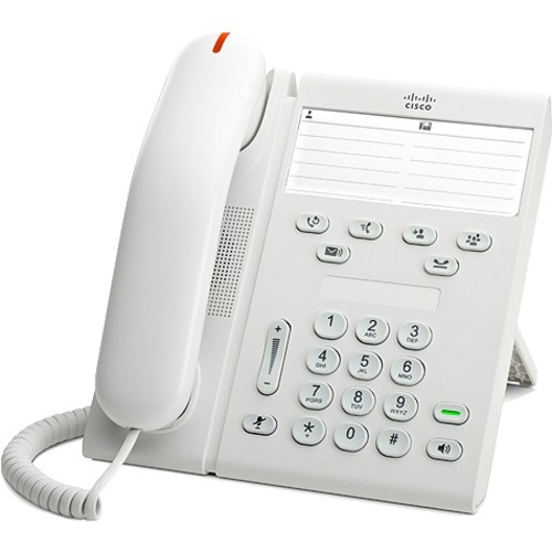 Cisco 6911 IP Phone - Refurbished - Cable - Wall Mountable - Arctic White