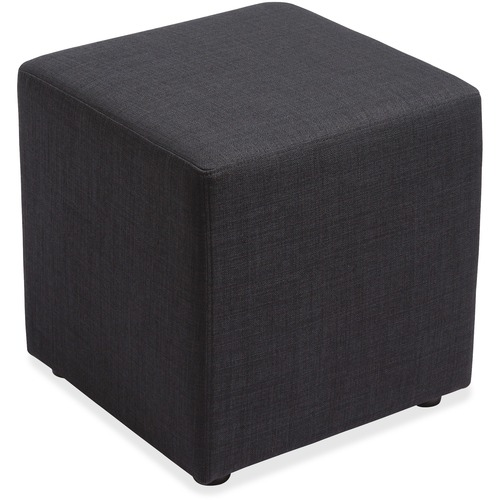 """Lorell Fabric Cube Chair - Plywood18"""" (457.20 mm) x 18"""" (457.20 mm) x 18"""" (457.20 mm) - 1 Each"""