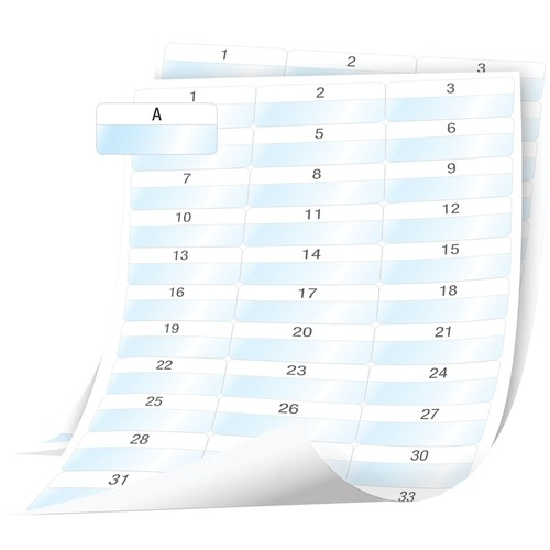 Dymo XTL Cable Wrap Sheet Labels, 54 mm x 23 mm