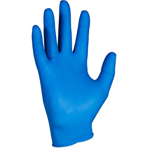 KleenGuard G10 Nitrile Gloves - Large Size - Nitrile - Arctic Blue - Comfortable, Latex-free, Powder-free, Textured Fingertip, Beaded Cuff, Ambidextrous - For Industrial, Food Handling, Electrical Contracting, Painting, Manufacturing, Automotive - 2000 /