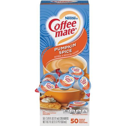 Nestlé® Coffee-mate® Coffee Creamer Pumpkin Spice - liquid creamer singles - Pumpkin Spice Flavor - 0.38 fl oz (11 mL) - 50/Box - 1 Ser