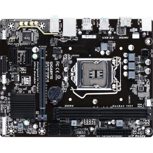 Gigabyte Motherboard GA-H110M-A Core i7/i5/i3 H110 DDR4 SATA PCI Express Micro-ATX Retail