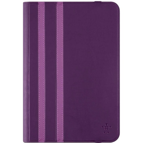 Belkin Carrying Case Folio for 20.3 cm 8inch iPad mini, iPad mini 2, iPad mini 3, iPad mini 4, Tablet - Dark Blue - Slip Resistant - Fabric - Twin Stripe