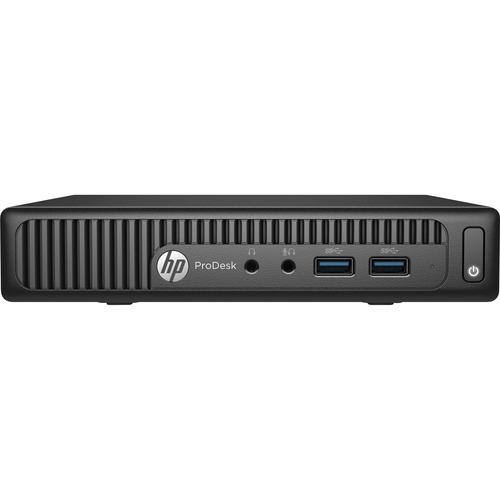 HP Business Desktop ProDesk 400 G2 Desktop Computer   Intel Core i3 i3-6100T 3.20 GHz   4 GB DDR4 SDRAM   500 GB HDD   Windows 7 Professional 64-bit (English) upgradable to Windows 10 Pro   Mini PC   Black