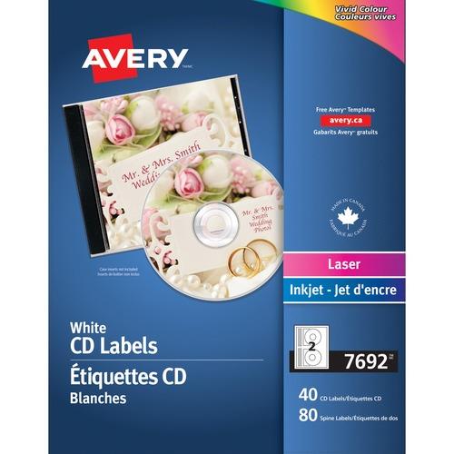 Avery Laser Inkjet Cd Labels Laser Inkjet Blue 2 Sheet 40