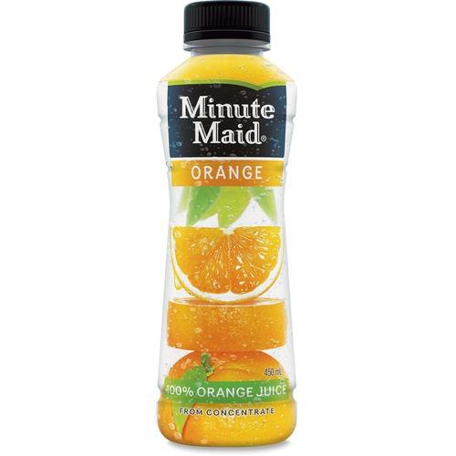 Minute Maid Orange Juice - Ready-to-Drink - Orange Flavor - 450 mL - Bottle - 12 / Carton