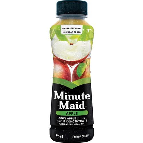 Minute Maid Pomme Jus Apple Juice - Ready-to-Drink - Apple Flavor - 450 mL - Bottle - 12 / Carton