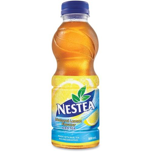 Nestea Natural Lemon Iced Tea Drink - Ready-to-Drink - Lemon Flavor - 50 mL - Bottle - 12 / Carton