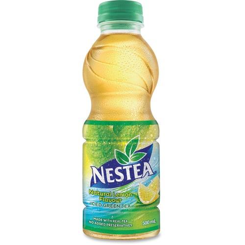Nestea Lemon Flavour Iced Green Tea Drink - Ready-to-Drink - Lemon, Green Tea Flavor - 500 mL - Bottle - 12 / Carton