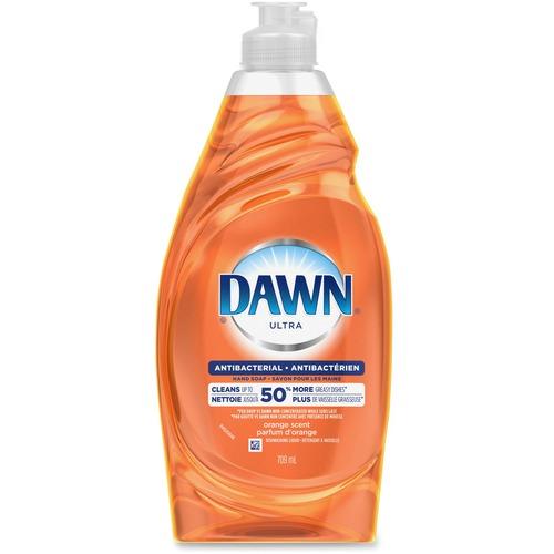 Dawn Ultra Antibacterial Dish Liquid - Liquid - 21.6 fl oz (0.7 quart) - Orange Scent