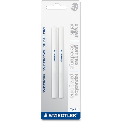 Staedtler Eraser Refill - White - Triangle - 2 / Pack - PVC-free, Latex-free, Durable
