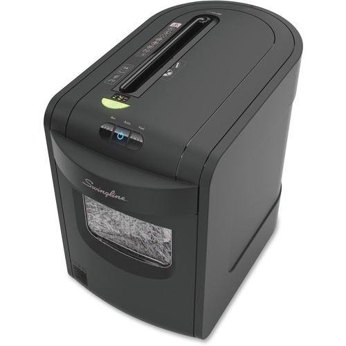 "Swingline EX14-06 Paper Shredder - Cross Cut - 14 Per Pass - for shredding Paper, Paper Clip, Staples, Credit Card, CD - 9"" Throat - 22.71 L Wastebin Capacity - Black"