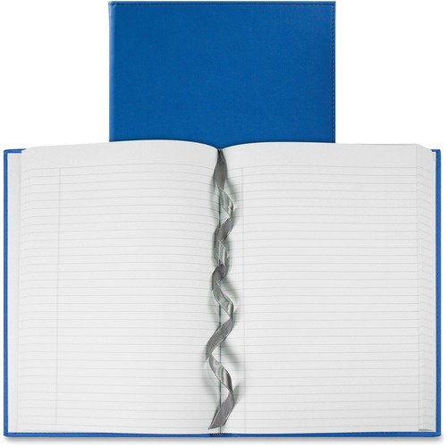 """Winnable Galleria Collection Hardcover Journal - 320 Pages - Casebound/Sewn - Ruled - 20 lb Basis Weight - 9.75"""" (247.65 mm) x 7"""" (177.80 mm) - White Paper - Teal Blue Cover - Hard Cover, Reinforced, Wear Resistant, Tear Resistant, Bond Paper, Ribbon Mark"""