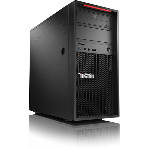 Lenovo ThinkStation P310 30AT000NUS Workstation | 1 x Intel Core i5 (6th Gen) i5-6500 Quad-core (4 Core) 3.20 GHz | 8 GB DDR4 SDRAM | 1 TB HDD | Intel HD Graphics 530 Graphics | Windows 7 Professional 64-bit upgradable to Windows 10 Pro | Tower | Raven Black