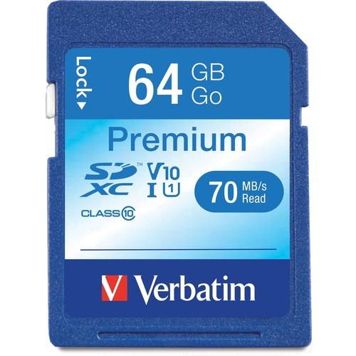 VERBATIM - AMERICAS LLC 64GB PREMIUM SDXC MEMORY CARD UHS-I CLASS10