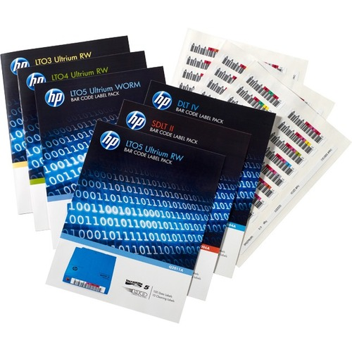 HP LTO-7 Ultrium RW Bar Code Label Pack