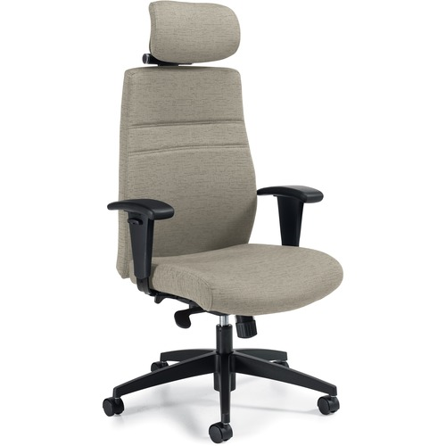 Offices To Go M-Task Extended Back Synchro-Tilter - White Sand Fabric Seat - White Sand Back - High Back - White Sand - Fabric - 1