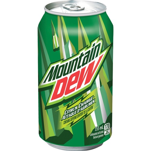 Mountain Dew Soft Drink - Ready-to-Drink - 335 mL - 12 / Carton