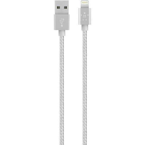 SYNC/CHARGE CABLE,BRAIDED,LTG,2.4A,4 ,ROSE GOLD