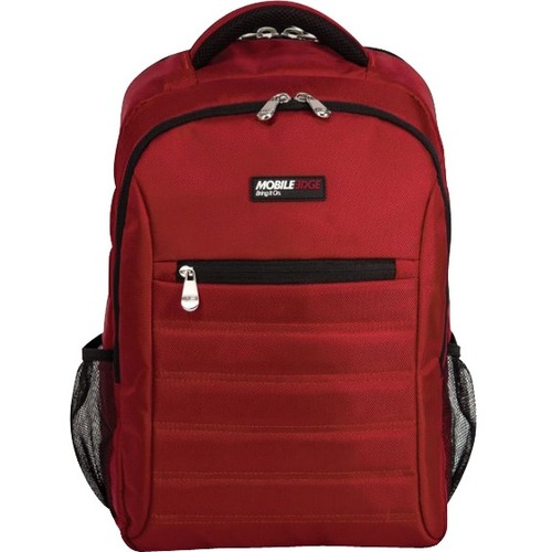 "Mobile Edge - SmartPack - 16""/17"" Mac - Crimson Red. The SmartPack is a no-nonsense backpack for people who value a case which puts protection first. Ergonomically designed and lightweight, the SmartPack offers protection for your laptop and tablet and st"