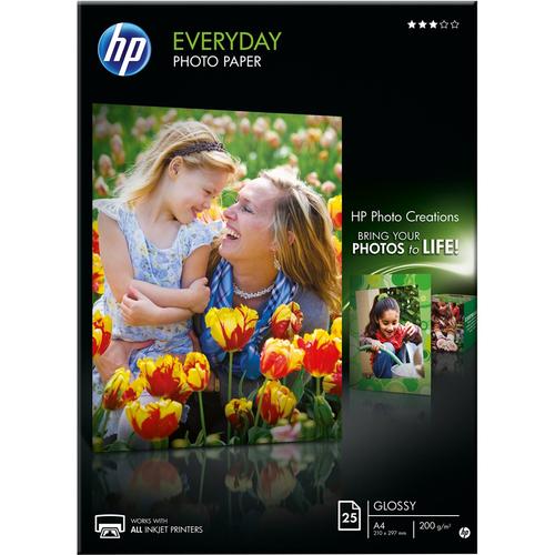 HP Everyday Q5451A Photo Paper - A4 - 210 mm x 297 mm - Semi Gloss - 25 x Sheet