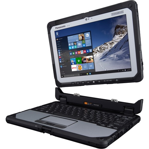 "Win7 (Win10 Pro COA), Intel Core m5-6Y57 1.10 GHz, vPro, 10.1"" WUXGA 10-pt Gloved Multi Touch, 8GB, 256GB SSD, Intel WiFi a/b/g/n/ac, TPM, Bluetooth, Dual Pass (Ch1:WWAN/Ch2:WWAN), 2D Bar Laser (N6603), Webcam, Emissive Backlit Keyboard, Toughbook Preferred"