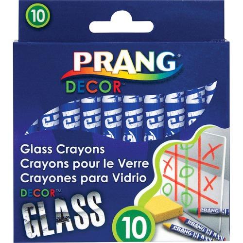 Prang Decor Glass Crayons - Assorted