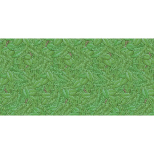 """Fadeless Bulletin Board Art Paper - Bulletin Board, Display, Table Skirting, Decoration - 48"""" (1219.20 mm)Width x 12 ft (3657.60 mm)Length - Tropical Foliage - 1 Roll - Green - Paper"""