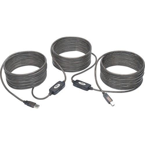 USB 2.0 Hi-Speed Active Repeater Cable A/B M/M 480Mbps 50ft