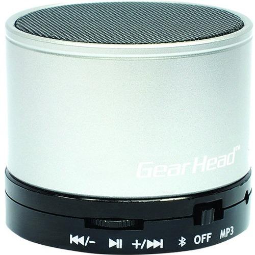 Gear Head BT3500SKV Speaker System - Portable - Battery Rechargeable - Wireless Speaker(s) - Silver, Black