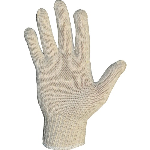 ProGuard Regular Weight String Knit - Large Size - Cotton, Polyester - Natural - Reversible, Knitted - For General Purpose, Material Handling, Food Handling