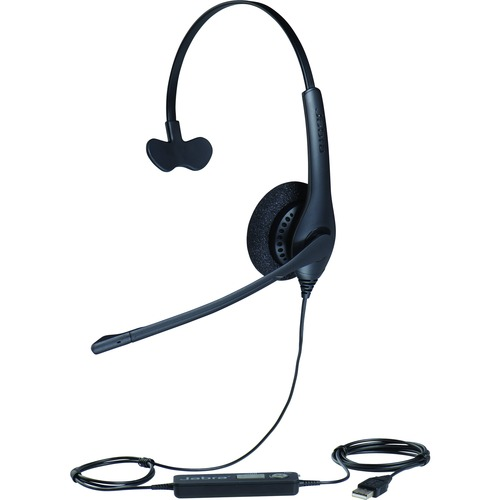 Jabra BIZ 1500 Wired Mono Headset - Over-the-head - Supra-aural - 32 Ohm - 20 Hz - 6.80 kHz - 2.30 m Cable - USB - Yes