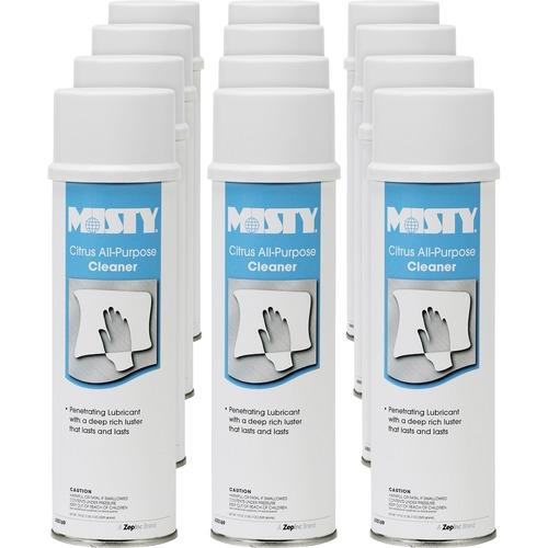 MISTY Citrus All-Purpose Cleaner - Aerosol - 19 fl oz (0.6 quart) - Citrus Scent - 12 / Carton - White