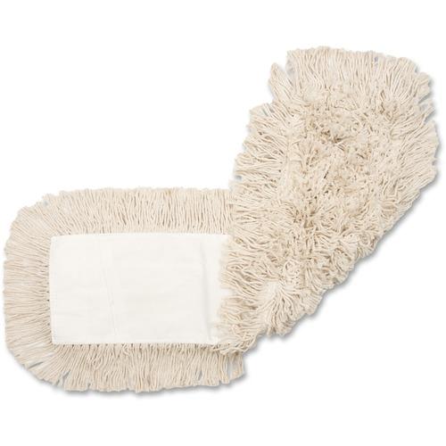 """Genuine Joe 4-ply Dust Mop Refill - 18"""" Width5"""" Depth - Cotton"""