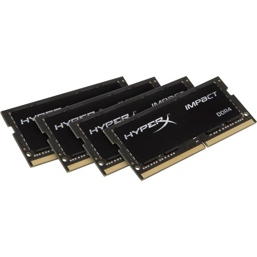 Kingston HyperX Impact RAM Module - 64 GB 4 x 16 GB - DDR4 SDRAM - 2133 MHz DDR4-2133/PC4-17000 - 1.20 V - Non-ECC - Unbuffered - CL14 - 260-pin - SoDIMM