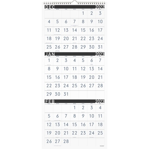 Calendar December 2019 January 2020.House Of Doolittle Scenic 3 Month Compact Wall Calendar Yes