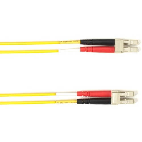 Black Box 1-m, LC-LC, 50-Micron, Multimode, Plenum, Yellow Fiber Optic Cable
