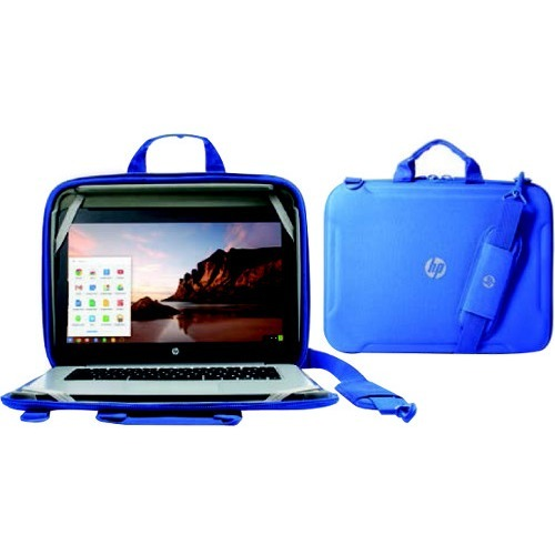 "HP Always-On Carrying Case for 11"" Chromebook, Notebook - Blue"