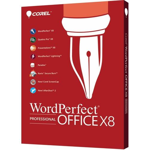 Corel WordPerfect Office v.X8 Professional Edition | Box Pack | 1 User