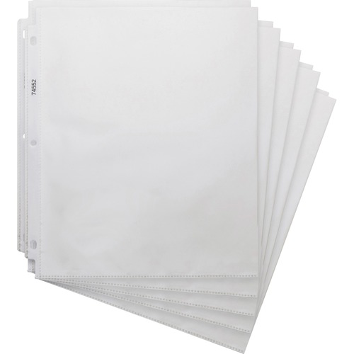 """Business Source Top-loading 3-hole Sheet Protectors - For Letter 8 1/2"""" x 11"""" Sheet - 3 x Holes - Clear - Polypropylene - 200 / Box"""