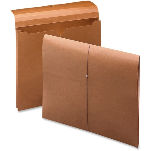 """Smead Letter Recycled File Wallet - 8 1/2"""" x 11"""" - 2"""" Expansion - Redrope - 100% Recycled - 10 / Box"""