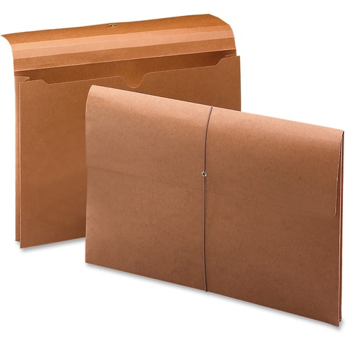 """Smead Legal Recycled File Wallet - 8 1/2"""" x 14"""" - 2"""" Expansion - Redrope - 100% Recycled - 10 / Box"""