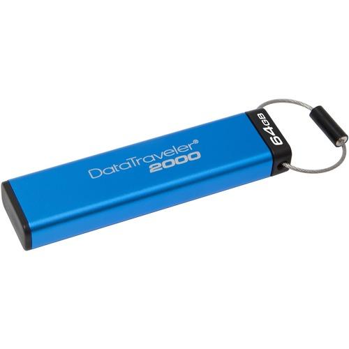 Kingston DataTraveler 2000 64 GB USB 3.1 Flash Drive - 256-bit AES