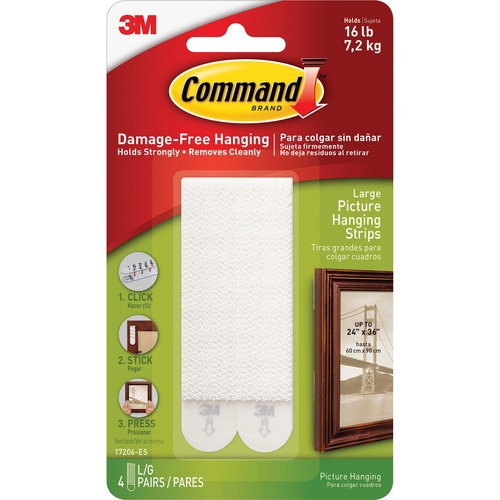 Command Large Picture Hanging Strips - 8 / Pack - White