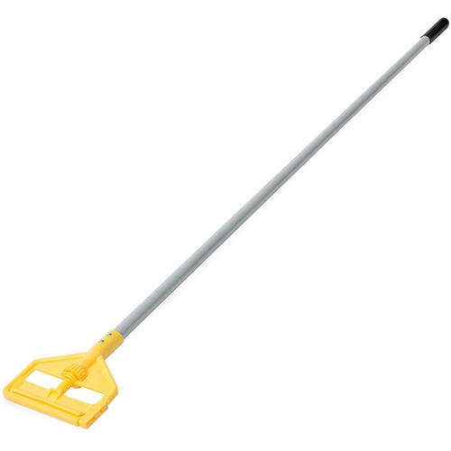 "Rubbermaid Commercial Snap-On Fiberglass Dust Mop Handle 60/"" Gray//Black M146"