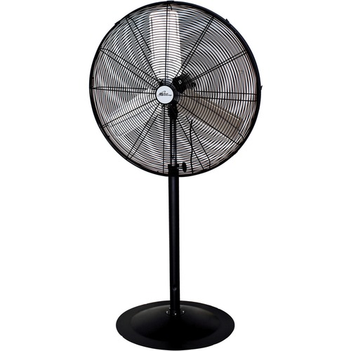 """Royal Sovereign Commercial Pedestal Fan 30"""" - 2 Speed - Durable - 30"""" (762 mm) Height - Aluminum Blade, Metal Base - Black, Gray"""