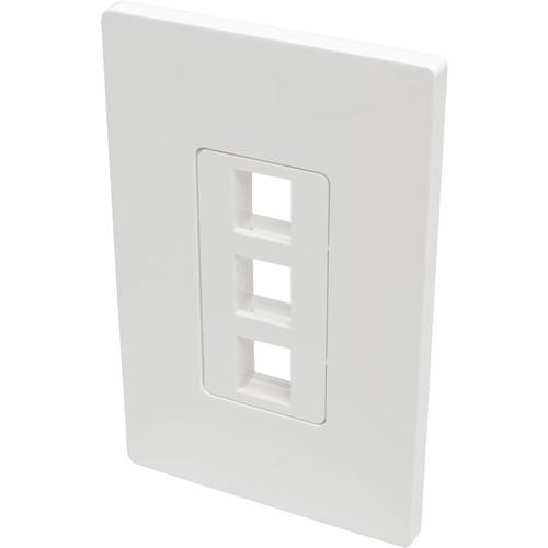 Tripp Lite Single-Gang 3-Port Wall Plate Keystone Cat5/6 USB HDMI Dport RCA